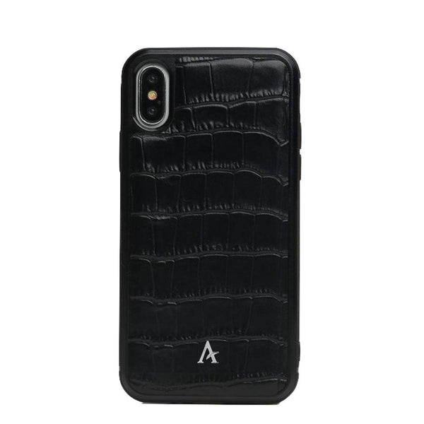 Leather Ultra Protect iPhone XS/X Case (Croc) - Affluent