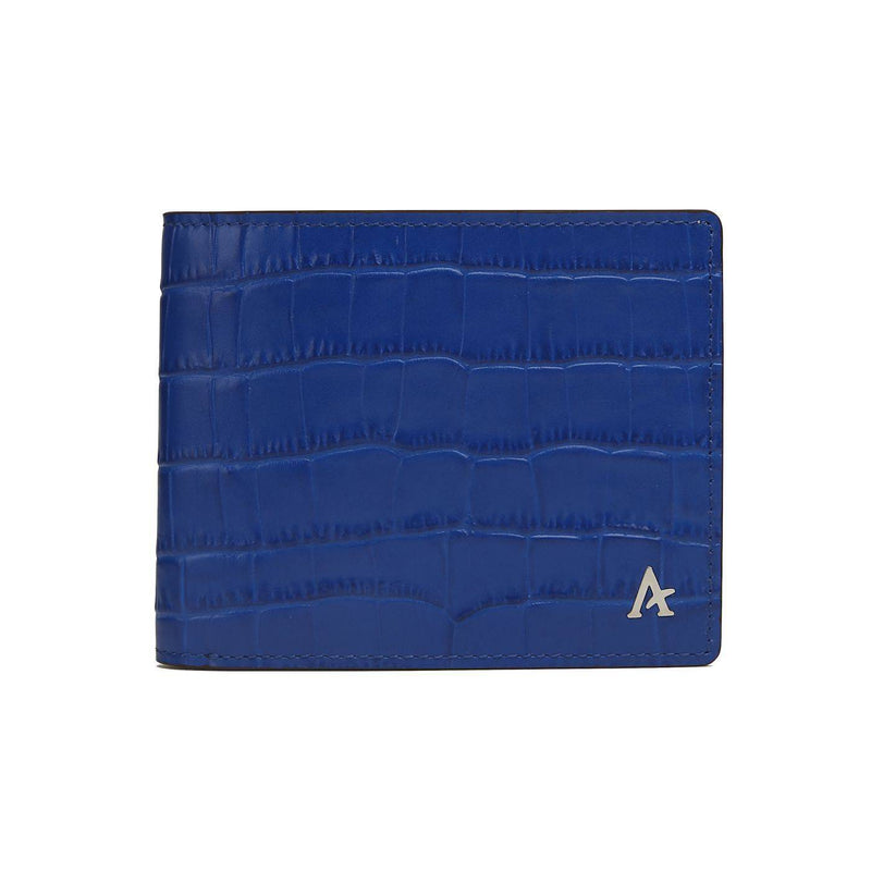 Leather Bi-Fold Wallet (Croc) - Affluent