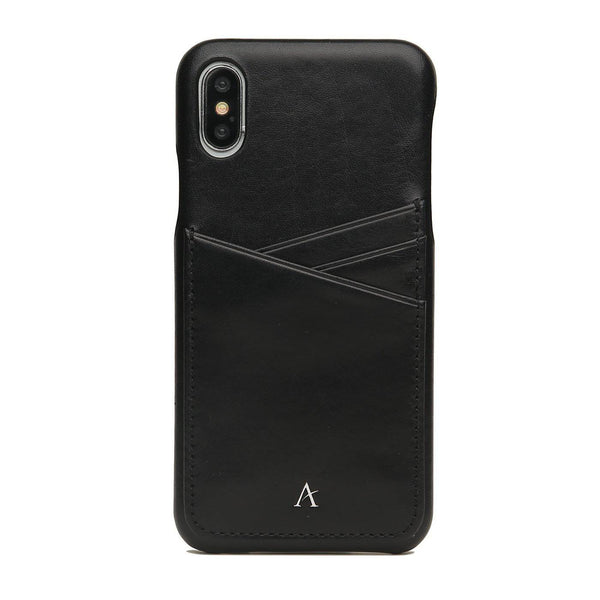 Leather Card Slot iPhone X/Xs Case (Natural) - Affluent