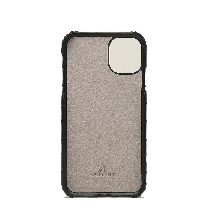 Leather Finger Loop iPhone 11 Pro Max Case (Croc) - Affluent