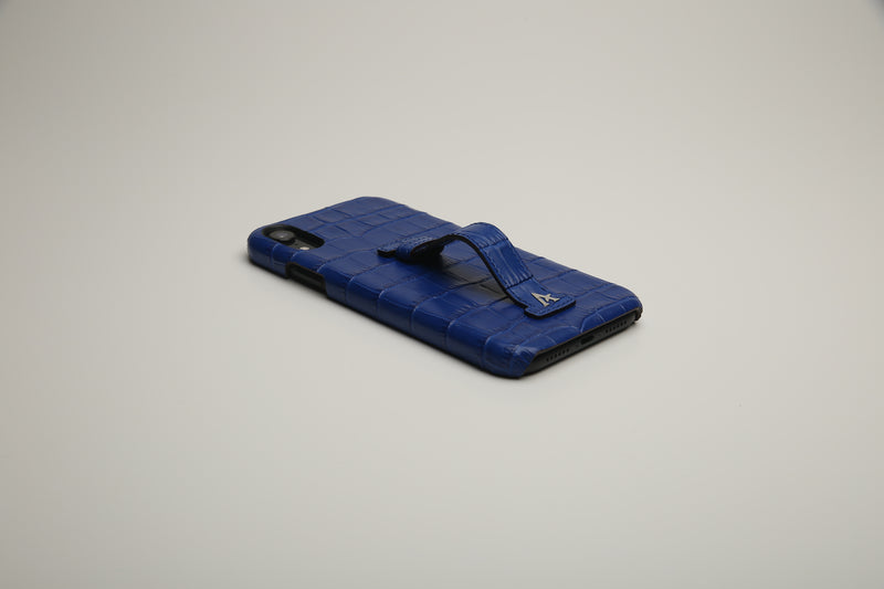 Croc Leather Finger-Holder iPhone XR Cases
