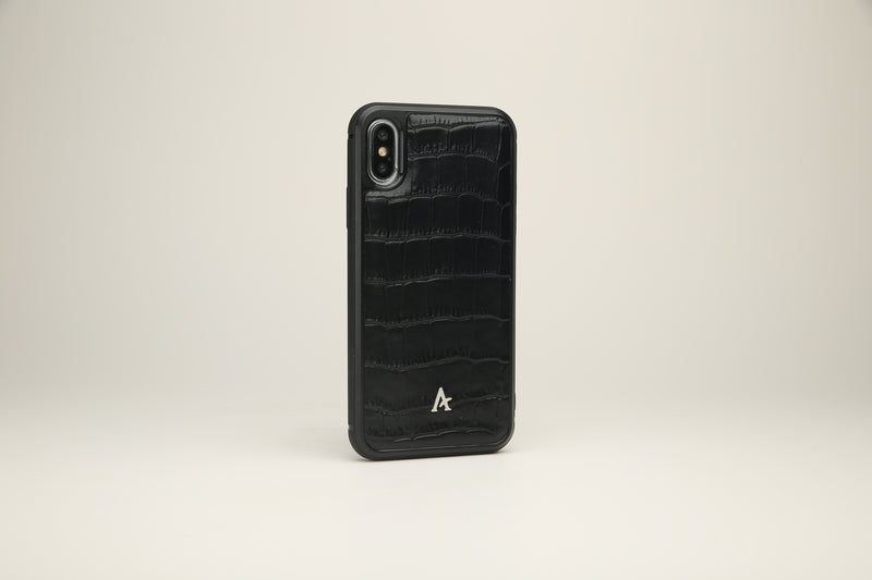 Crocodile Embossed Leather iPhone XS/X Cases