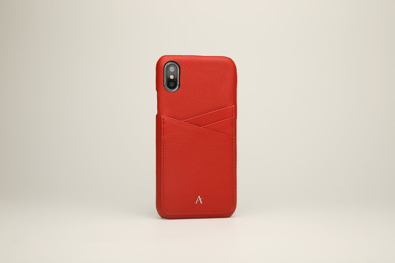 Grained Leather Card Slot iPhone XS/X Cases