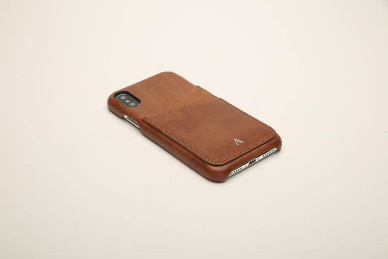 Vegetable Tanned Leather Card Slot iPhone Xs/X Cases