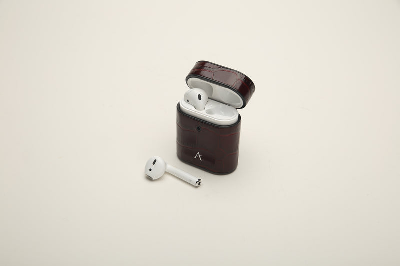 Leather AirPod Case (Croc) - Affluent