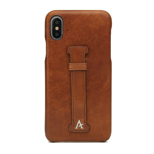 Leather Finger Loop iPhone Xs Max Case (Natural)