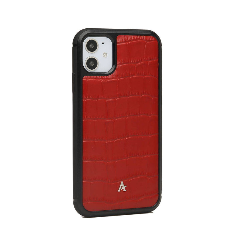Leather Ultra Protect iPhone 11 Case (Croc) - Affluent