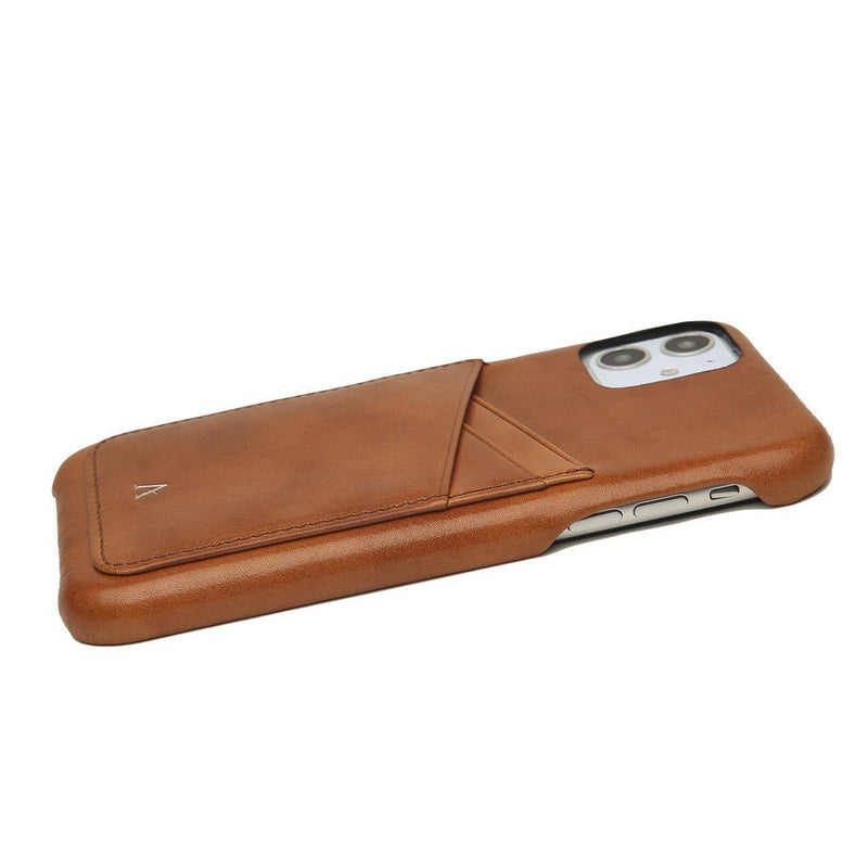 Leather Card Slot iPhone 11 Pro Max Case (Natural)