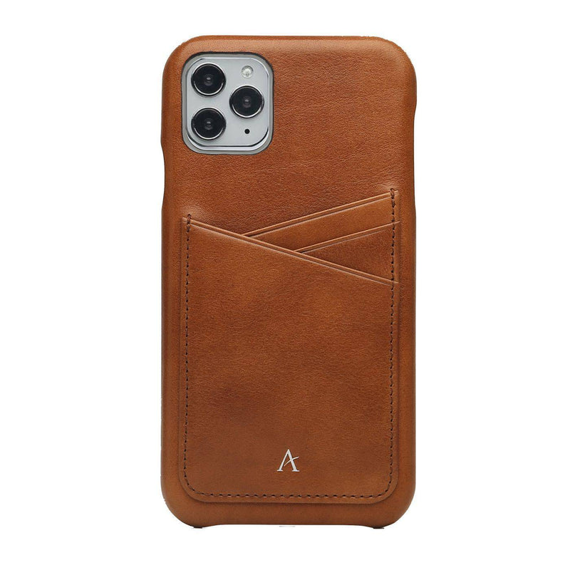 Leather Card Slot iPhone 11 Pro Case (Natural) - Affluent