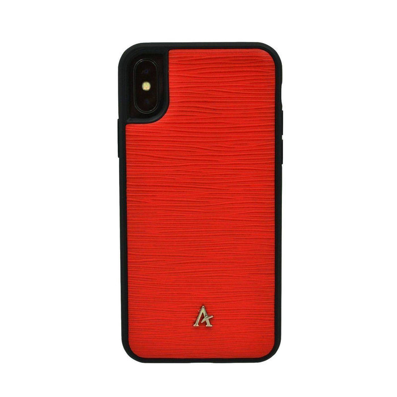 Leather Ultra Protect iPhone X/Xs Case (Waved) - Affluent