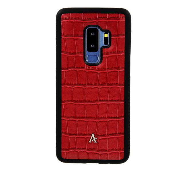 Crocodile Embossed Leather Samsung Galaxy S9+ Cases