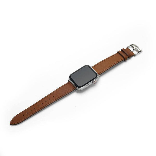 Leather Apple Watch Band (Natural) - Affluent