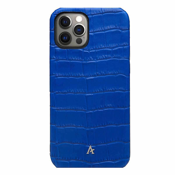 Leather iPhone 12 Pro Max Ultra Slim Case (Croc)