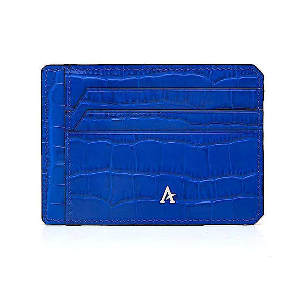 Slim Leather Card Holder (Croc)
