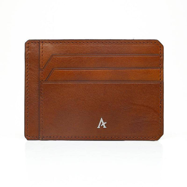 Slim Leather Card Holder (Natural)