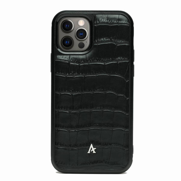 Leather Ultra Protect iPhone 12/12 Pro Case (Croc)
