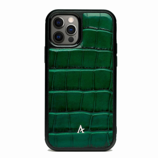 Leather Ultra Protect MagSafe iPhone 12 Pro Max Case (Croc)