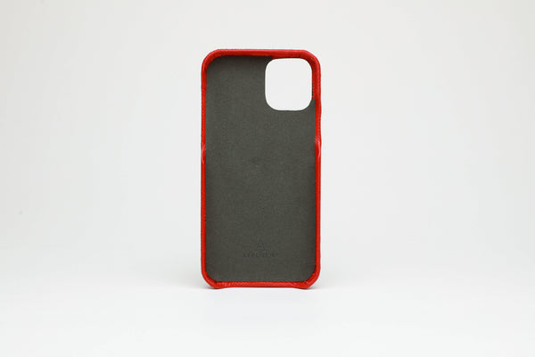 Leather iPhone 11 Pro Max Card Slot Finger Loop Case - Affluent