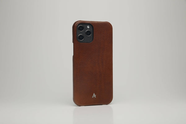 Leather iPhone 12/12 Pro Ultra Slim Case (Natural)