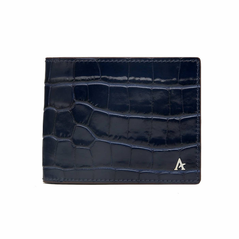 Leather Bi-Fold Wallet (Croc)