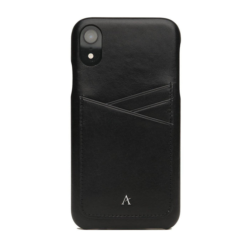 Leather Card Slot iPhone XR Case (Natural)