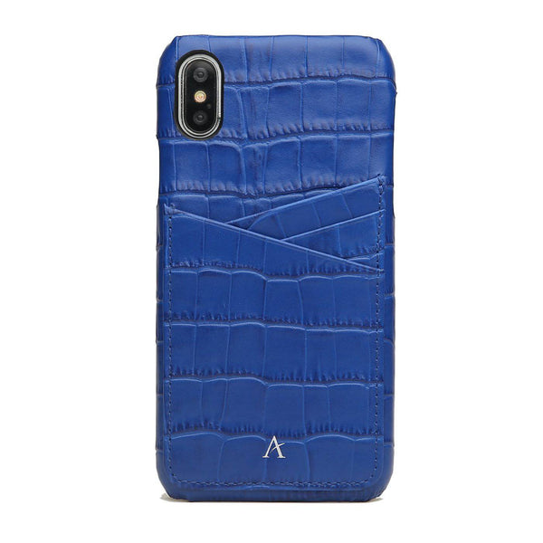 Leather Card Slot iPhone X/Xs Case (Croc)