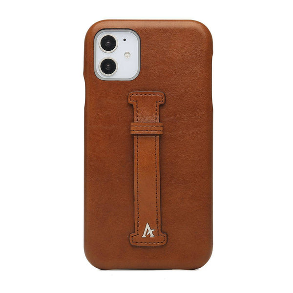 Leather Finger Loop iPhone 11 Case (Natural)