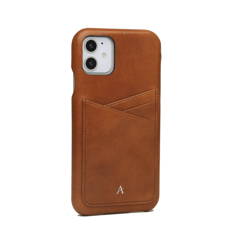 Leather Card Slot iPhone 11 Case (Natural)