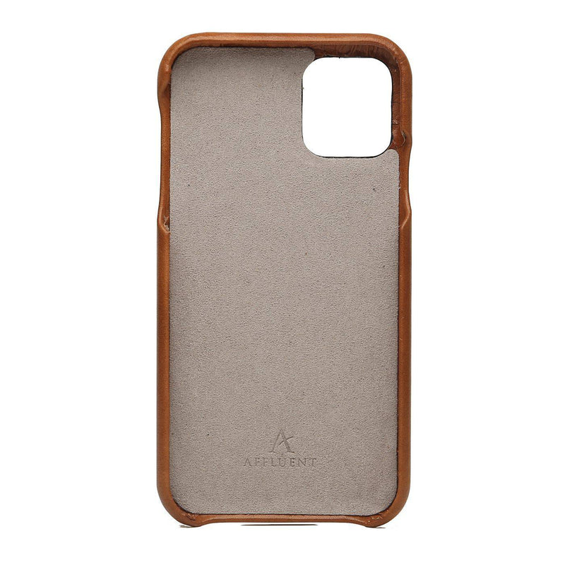 Leather Card Slot iPhone 11 Pro Max Case (Natural) - Affluent
