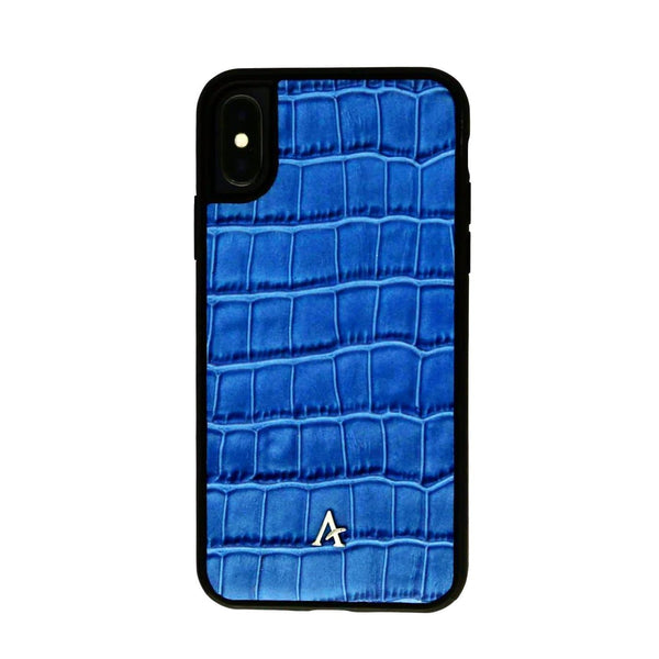Leather Ultra Protect iPhone Xs Max Case (Croc) - Affluent