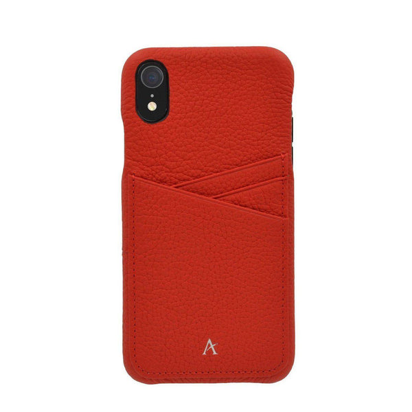 Leather Card Slot iPhone XR Case - Affluent