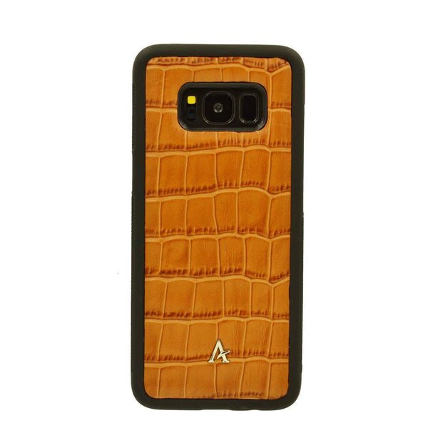 Croc Embossed Leather Samsung S8 Case - Affluent