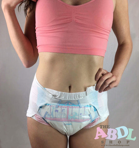 Adult fetish baby diaper changing