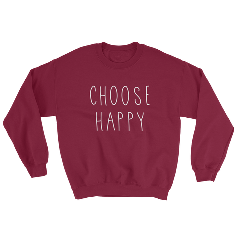 Choose Happy Sweater