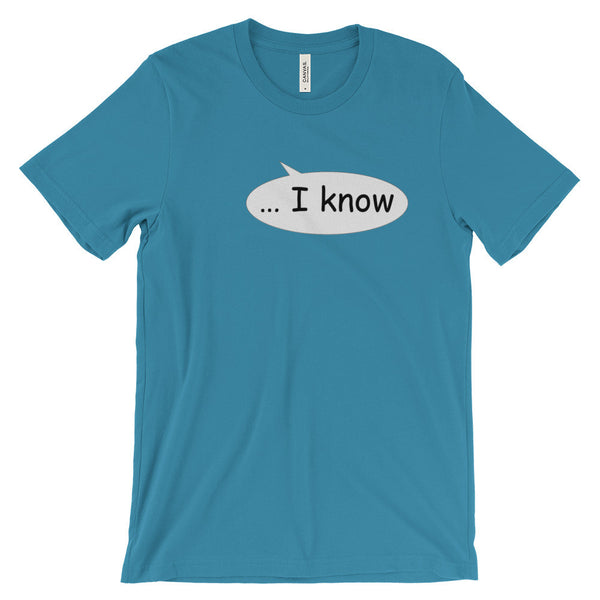 """I know"" bubble para el"