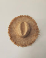 Frayed Edged Straw Hat