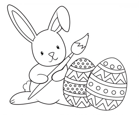 easter colouring in page avani and co