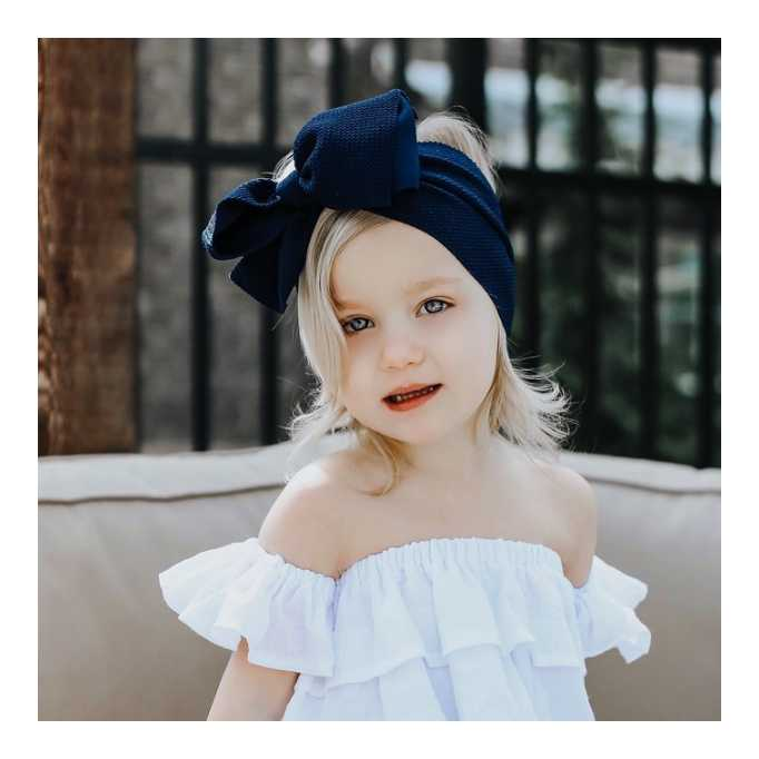 BLONDES IN BOWS Headwrap - Navy (IN STOCK)