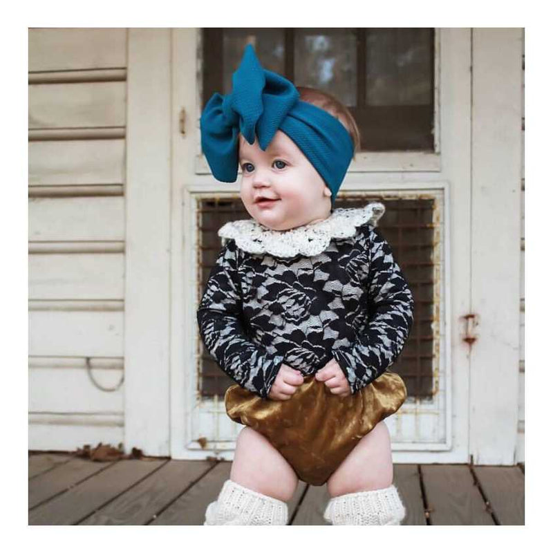 BLONDES IN BOWS Headwrap - Teal (IN STOCK)
