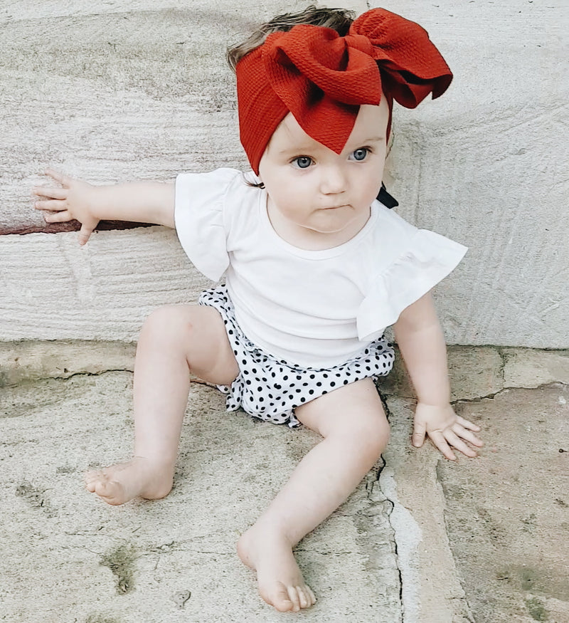 BLONDES IN BOWS Headwrap - Chestnut (IN STOCK)