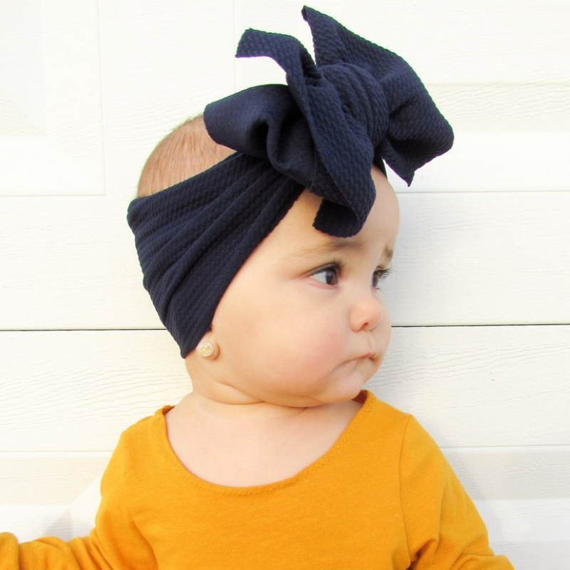 BLONDES IN BOWS Headwrap - Navy (PRE ORDER)