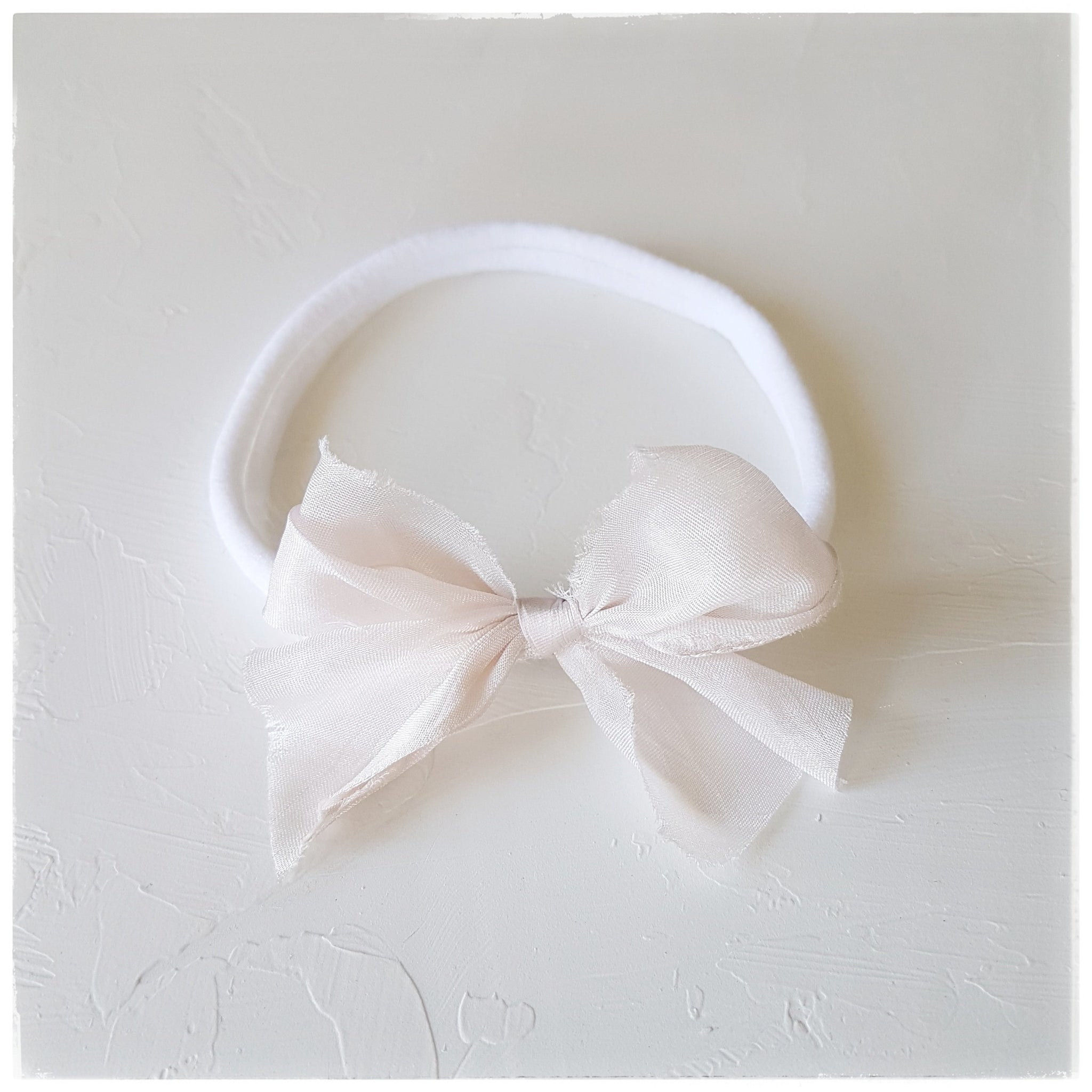 plant dyed tabby silk headband or clip :: crystal pink