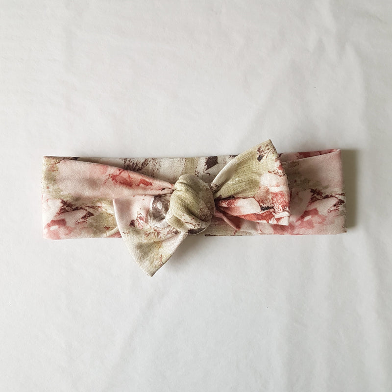 Organic Cotton Headwrap - Vintage Shabby Rose