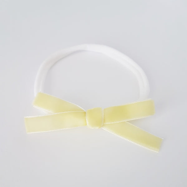Velvet Bow Headband Regular - Crēme Brulee
