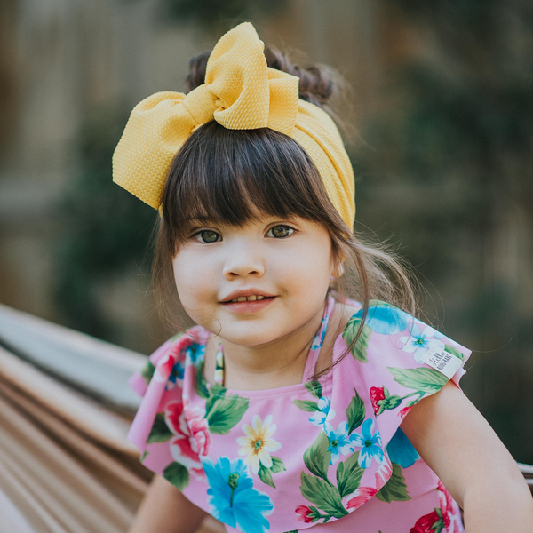 BLONDES IN BOWS Headwrap - Sunflower