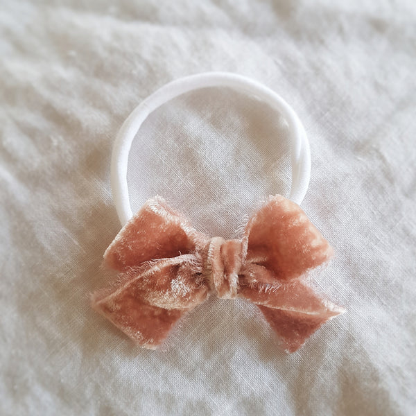 hand dyed velvet headband or clip :: dusty rose