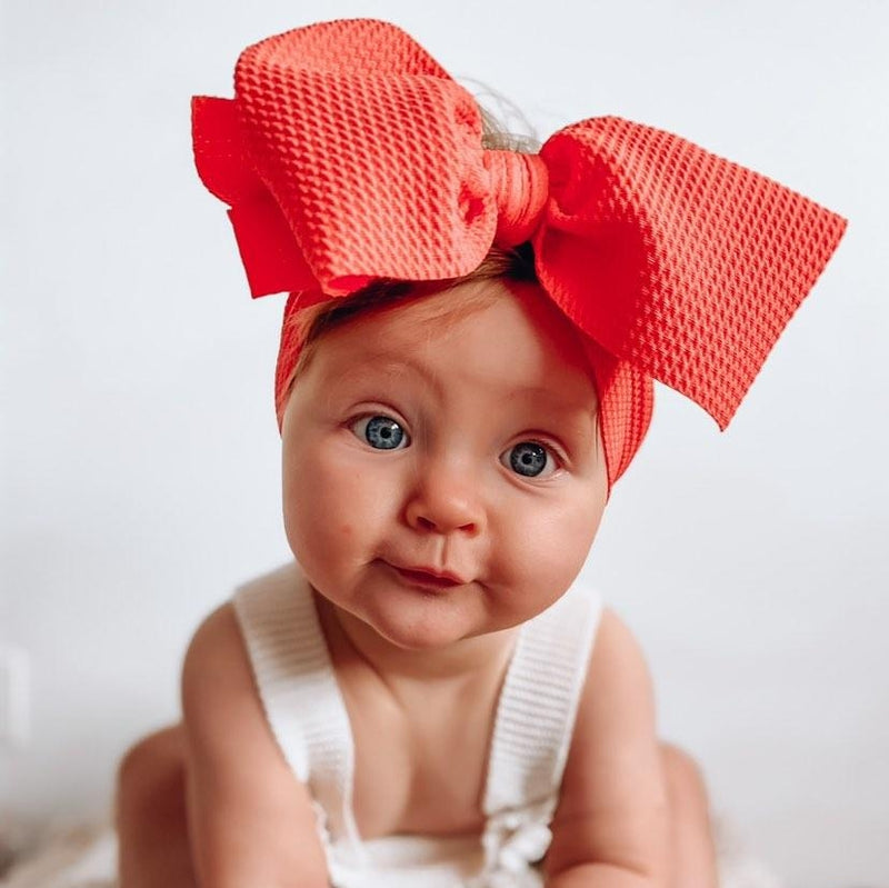 BLONDES IN BOWS Headwrap - Coral (PRE ORDER)
