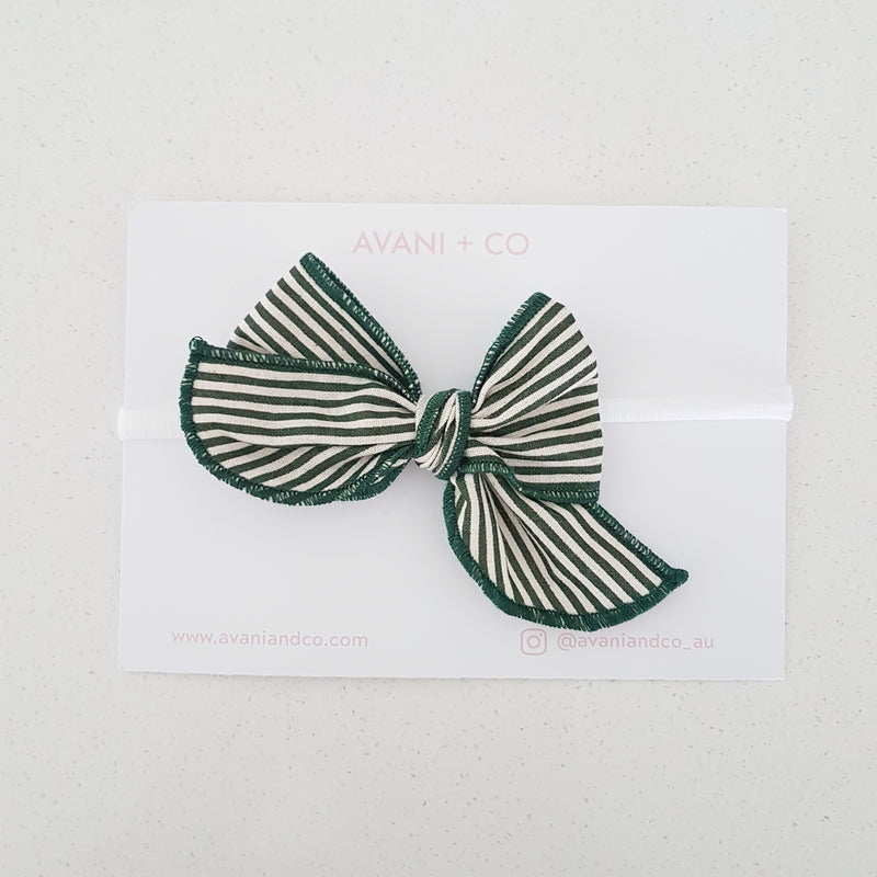 ELLOWYN HEADBAND - GREEN STRIPE