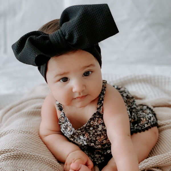 BLONDES IN BOWS Headwrap - Black (PRE ORDER)
