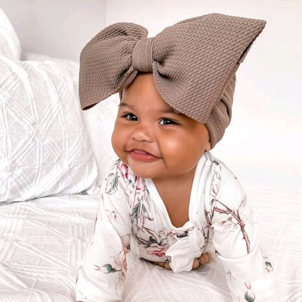 BLONDES IN BOWS Headwrap - Taupe (PRE ORDER)